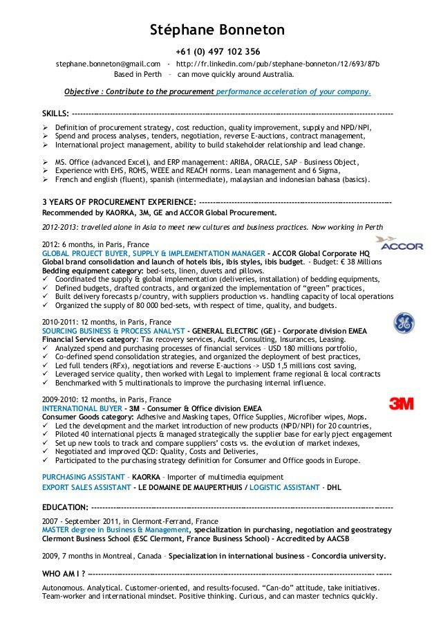 procurement resume sample manager resume procurement manager cv