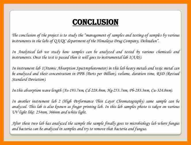 8+ example of conclusion for project report | job letteres
