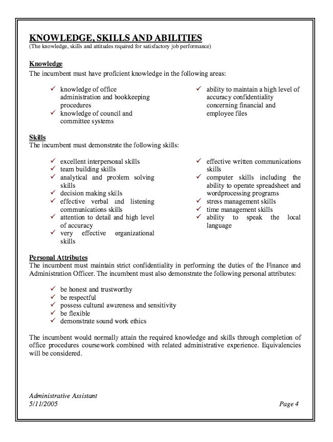 executive assistant duties responsibilities resume