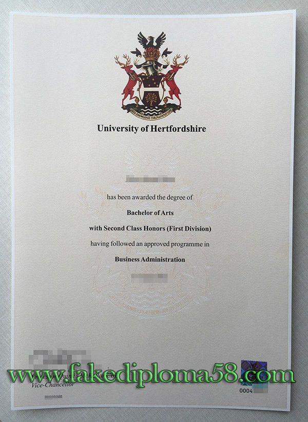 I want to buy a fake University of Hertfordshire degree ...
