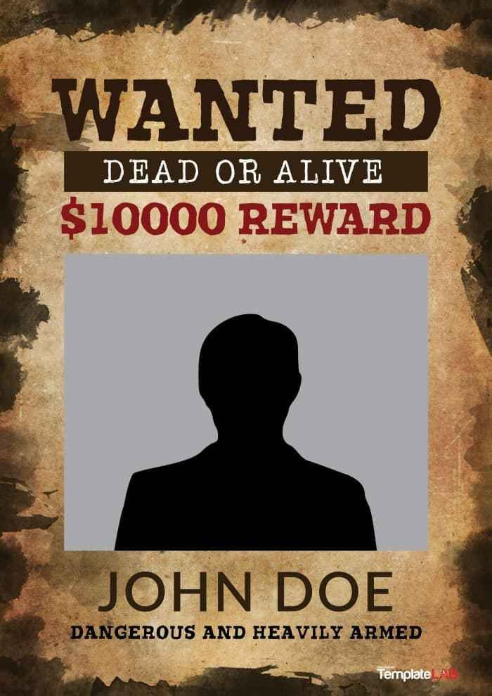 fbi most wanted template free