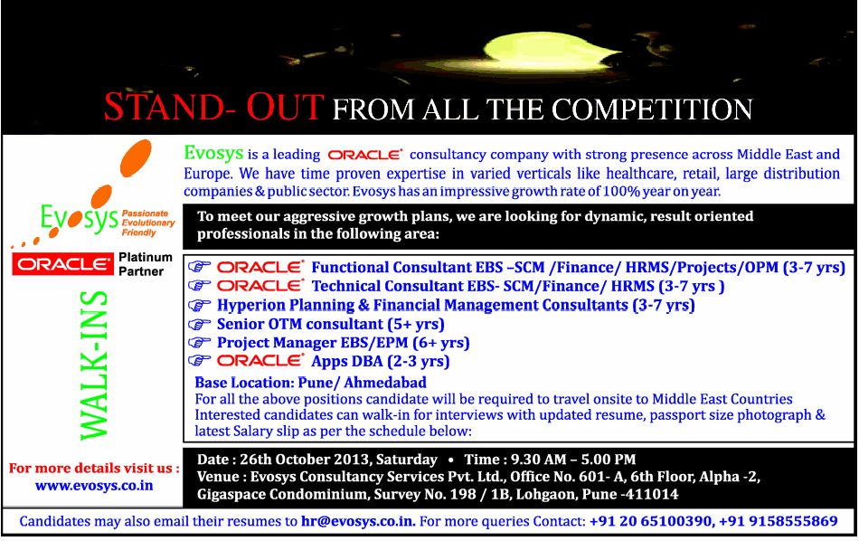 Job - Oracle Technical Consultant - HRMS - Pune - Office ...