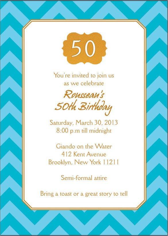 40+ 50th Birthday Invitation Templates – Free Sample, Example ...