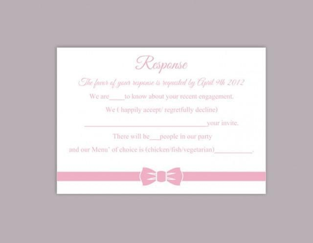 DIY Wedding RSVP Template Editable Word File Instant Download Rsvp ...