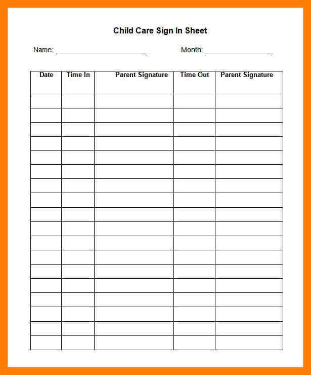 9+ sign in sheet template word   bibliography formated