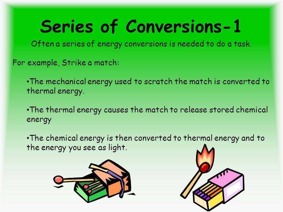 Energy Conversion and Conservation. After the Lesson: You will be ...