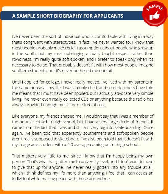 8+ biography sample | academic resume template