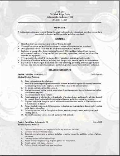 optical assistant cover letter sample. cover letter sample ...