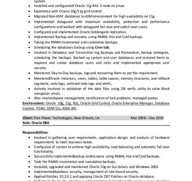 Sql Dba Resume For 4 Years Experience. programmer resume samples ...