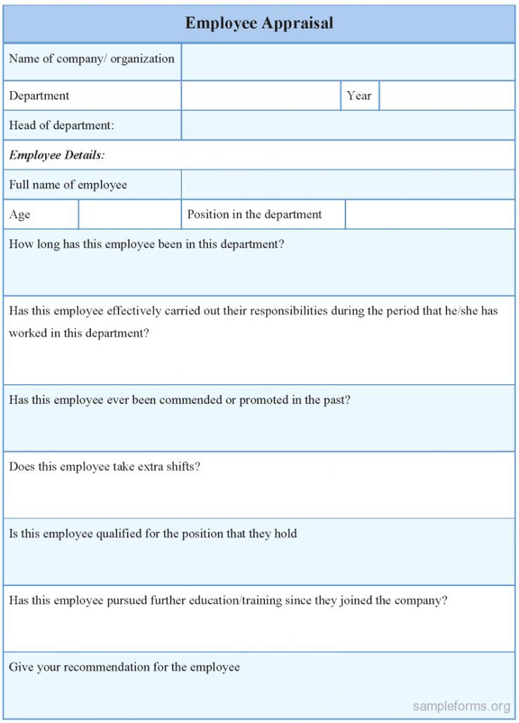 Performance Appraisals Templates Resume Format Download Payment ...