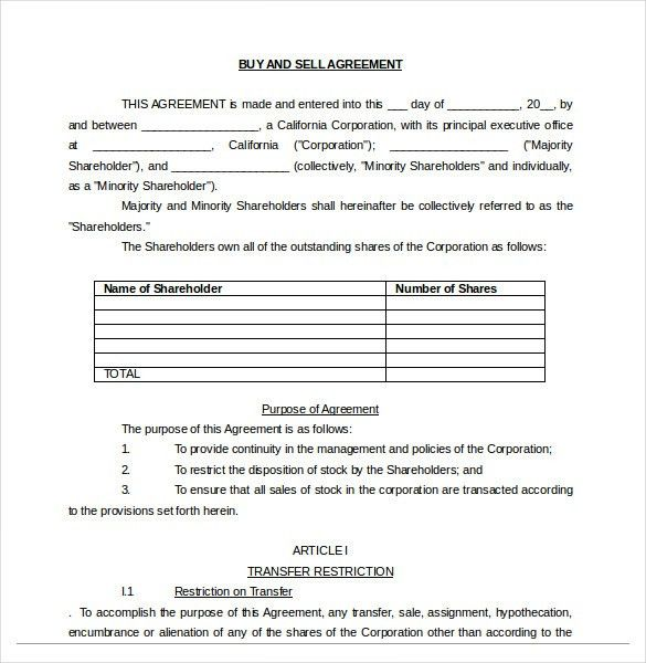 Buy Sale Agreement Template – 10+ Free Word, PDF Document Download ...