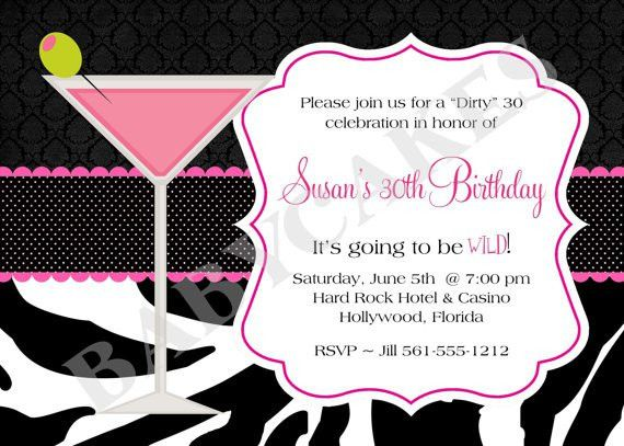 40th Birthday Invitations Templates Ideas : 30th birthday ...