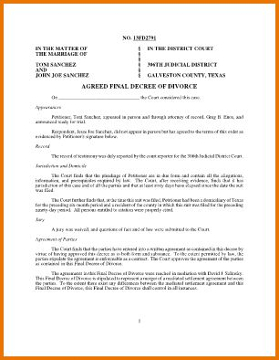 5 fake divorce papers | Divorce Document