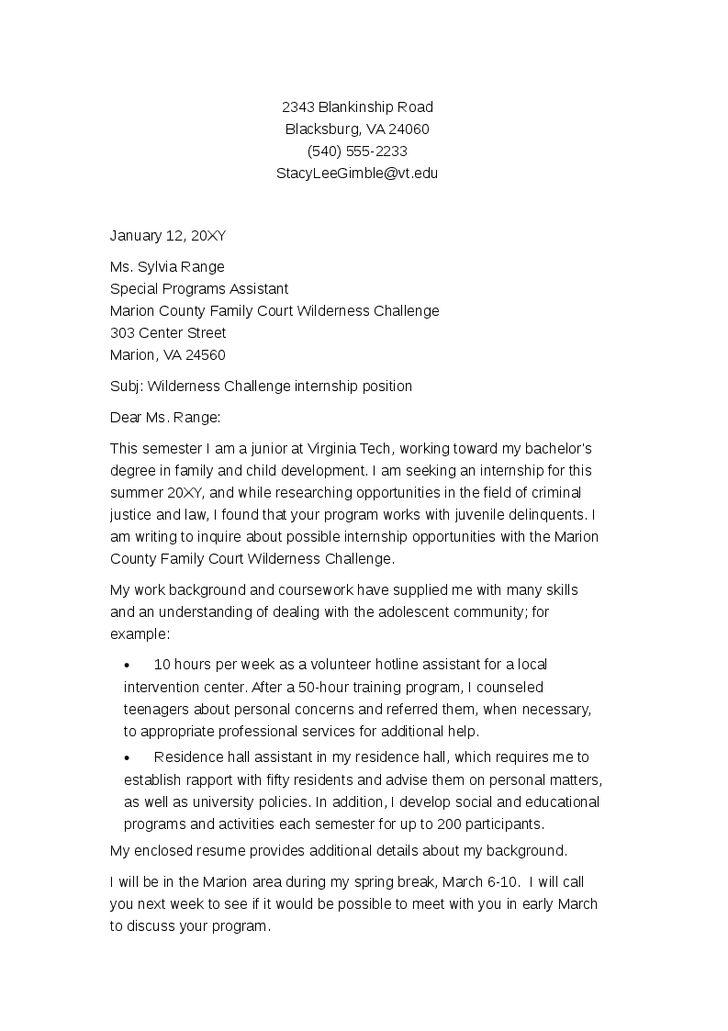20+ [ Sample Cover Letter Internship ] | Resume Example Exmed18 ...