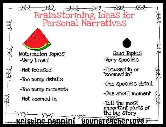 95 best writing - personal narrative (descriptive examples) images ...