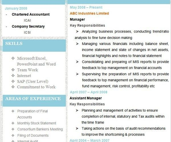 10+ Accounting Resume Templates - Free Word, PDF, Samples