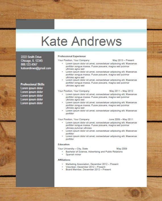 Free Contemporary Resume Templates. Free Modern Resume Templates ...