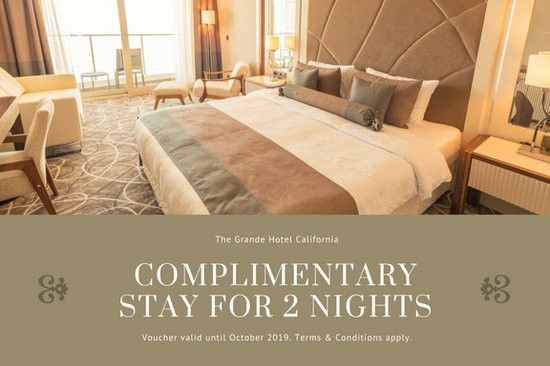 Aqua Blue Photo Hotel Gift Certificate - Templates by Canva