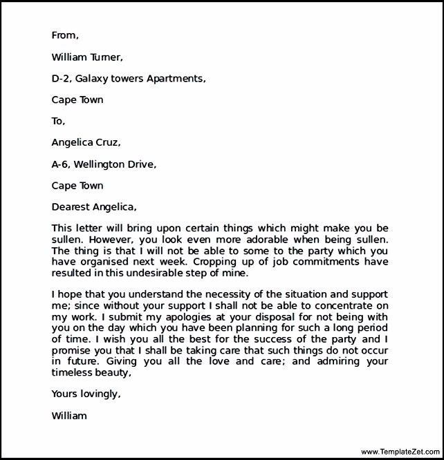 Apology Letter for Mistake to Girlfriend | TemplateZet