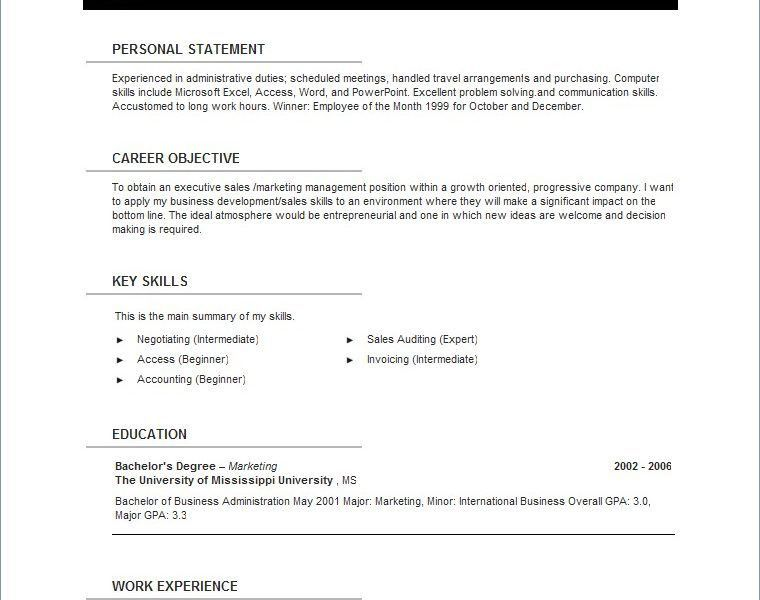 Chic Inspiration Resume Template Open Office 14 - CV Resume Ideas