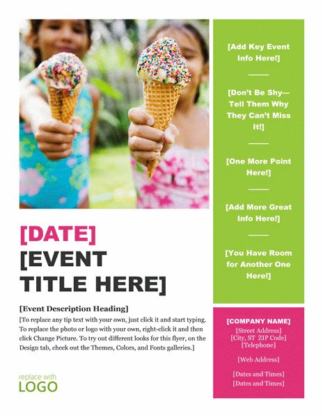 Download Summer Event Flyer Template Word Examples Free Flyer ...