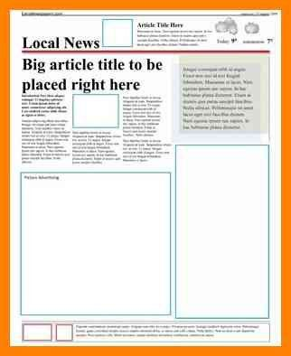 4+ newspaper article template for word | format of acv