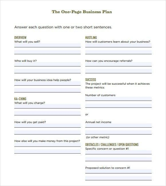 Business Plan Sample Template. how to write a business plan with ...