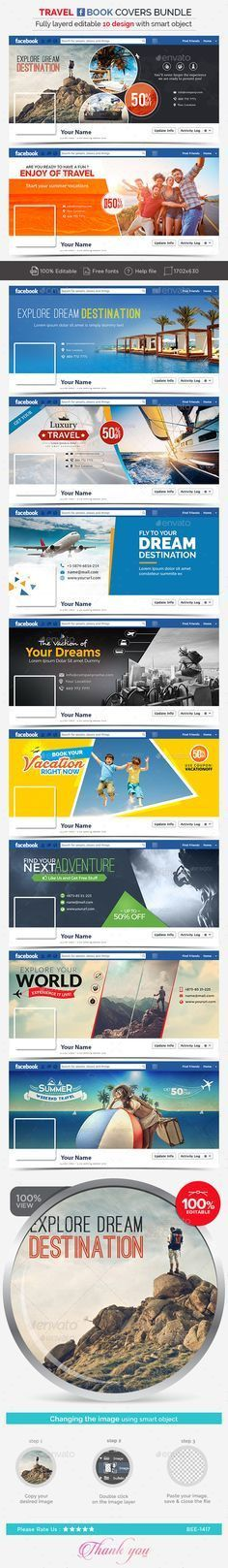 Facebook Cover Bundle | Timeline, Cover design and Template