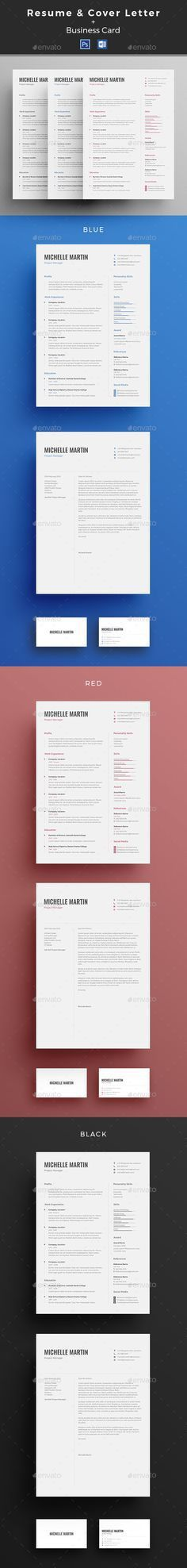 Pin by kimhannah on port | Pinterest | Cv template, Cv design and ...
