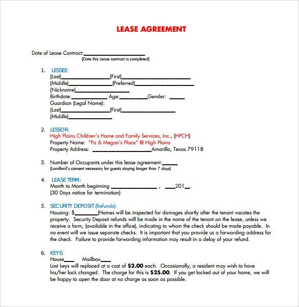 Free Lease Agreement Templates - 8+ Download Free Documents in PDF ...
