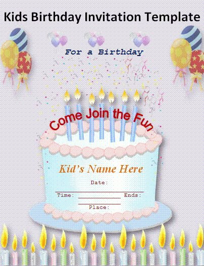 Online Birthday Party Invitations Templates Free | Invitation Ideas