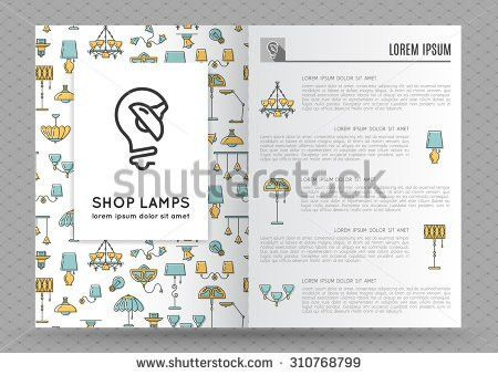 Brochure Flyer Design Template Flat Lamps Stock Vector 310768799 ...
