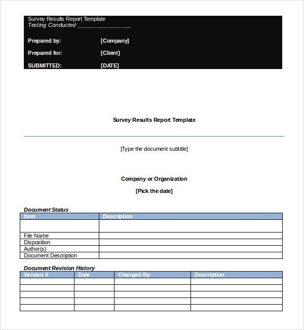 Survey Report template – 8+ Free Word, PDF Documents Download ...