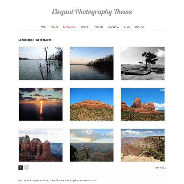 Elegant Photography WordPress Theme - Vandelay Design