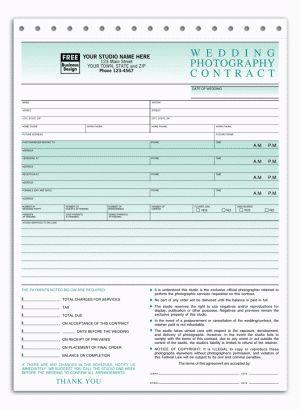 Printable Sample Wedding Photography Contract Template Form ...