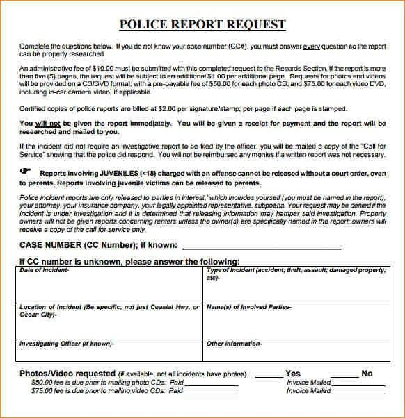7+ police report example | academic resume template