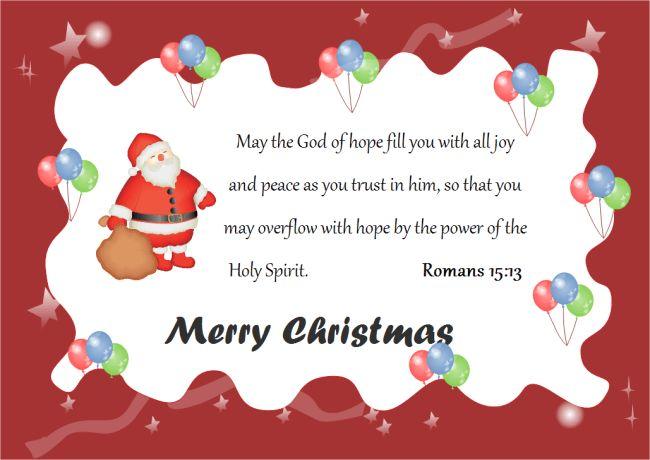 Christmas Card God Words | Free Christmas Card God Words Templates