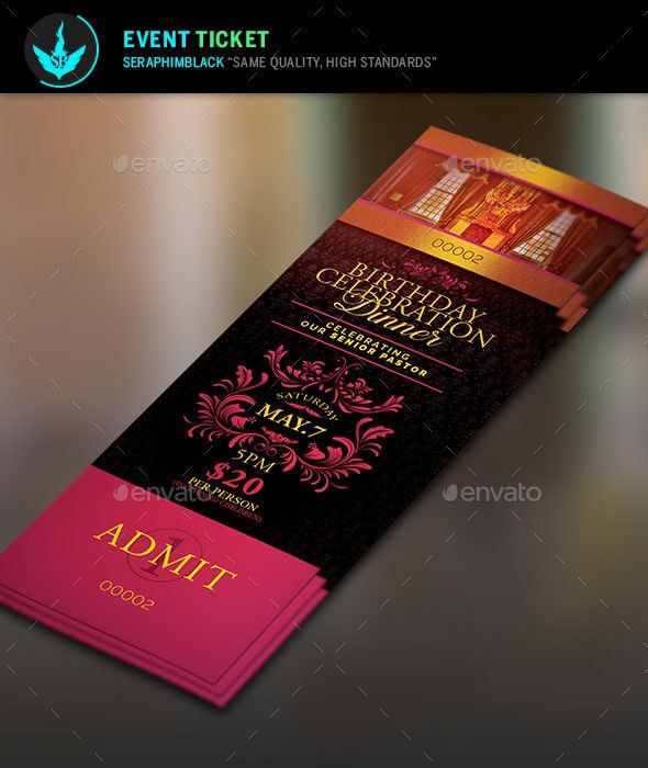 Birthday Celebration Dinner Ticket Template by SeraphimBlack ...