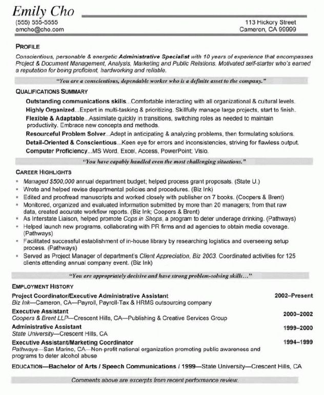 Project Coordinator Resume Sample | berathen.Com