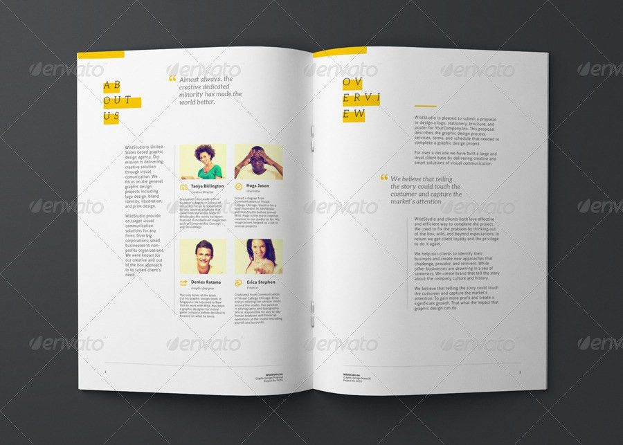 Clean Business Project Proposal Template | Layout | Pinterest ...