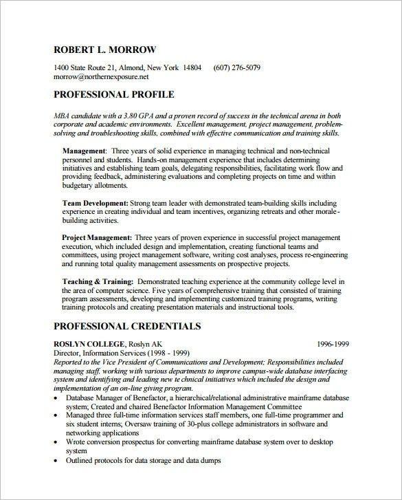 Download Mba Resume Template | haadyaooverbayresort.com