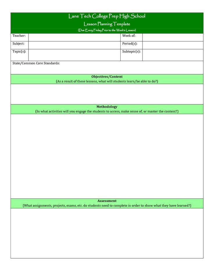 Best 25+ Lesson plan template doc ideas only on Pinterest | Lesson ...