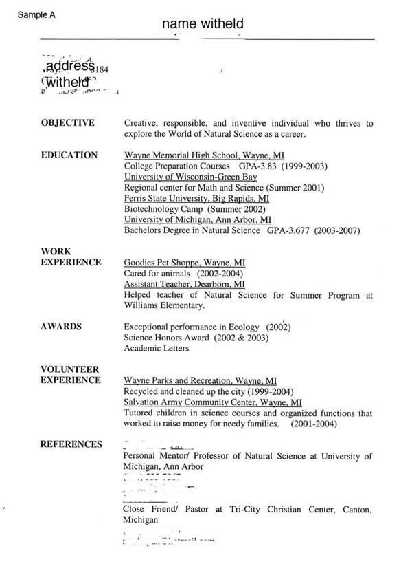 My Resume Sample The Abundant Success Coach My Resume Samples The