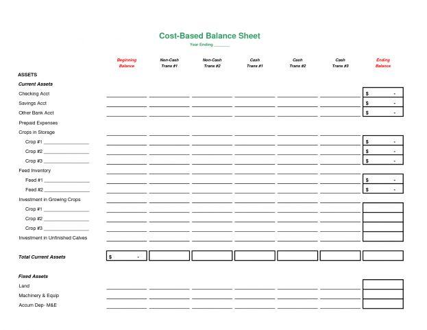 Blank Personal Balance Sheet Template : Selimtd