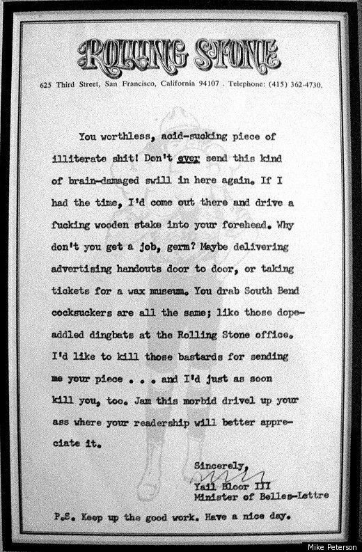Hunter S Thompson Letter Pictures to Pin on Pinterest - PinsDaddy