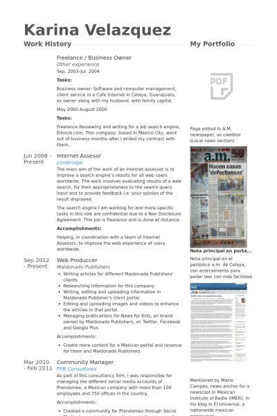 Business Owner Resume samples - VisualCV resume samples database