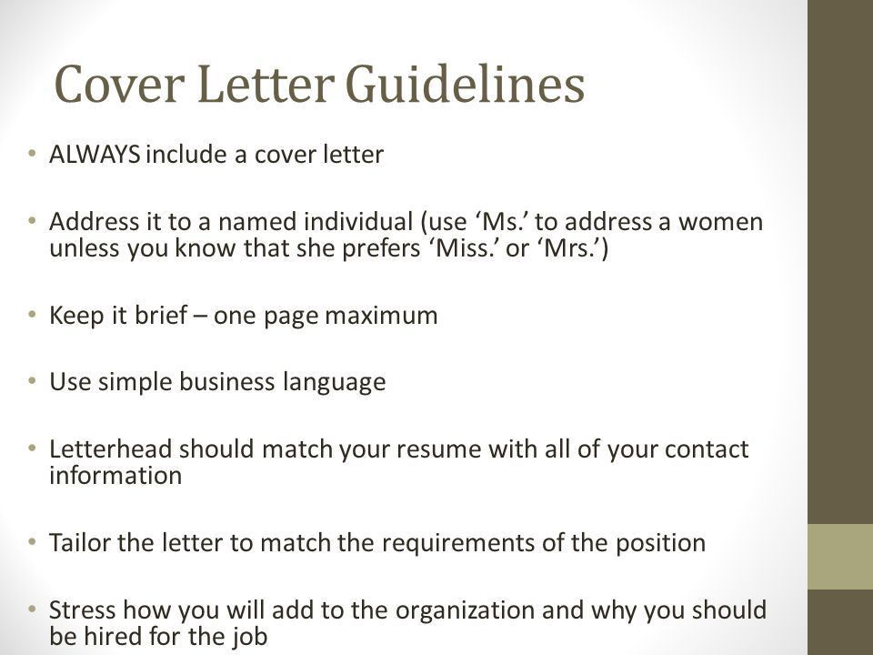 What is a Cover Letter? When do you need a Cover Letter? What do ...
