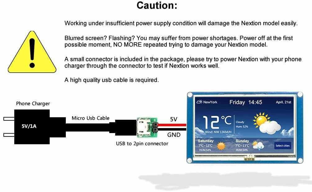 Nextion NX4024T032 – Generic 3.2″ HMI LCD Touch Display 4MB Flash ...
