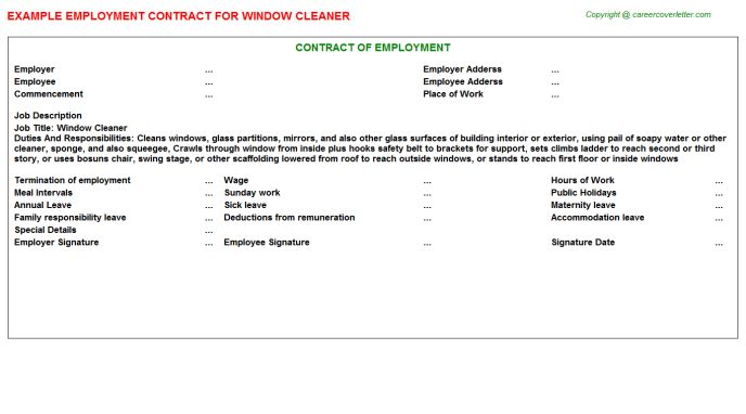 window cleaner job title docs