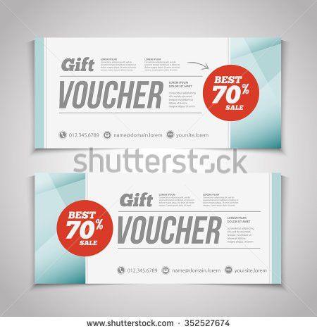 Gift Discount Voucher Template Modern Design Stock Vector ...